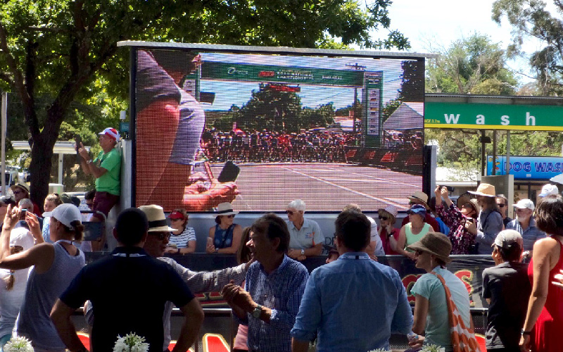 large outdoor LED wall for cycling event
